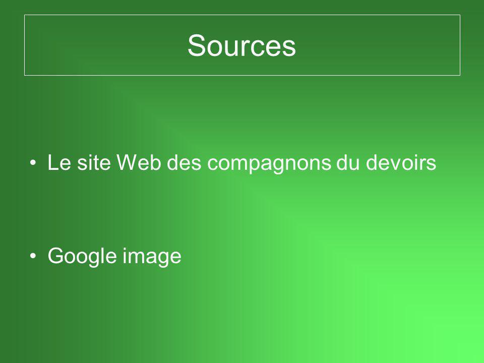 Sources Le site Web des compagnons du devoirs Google image