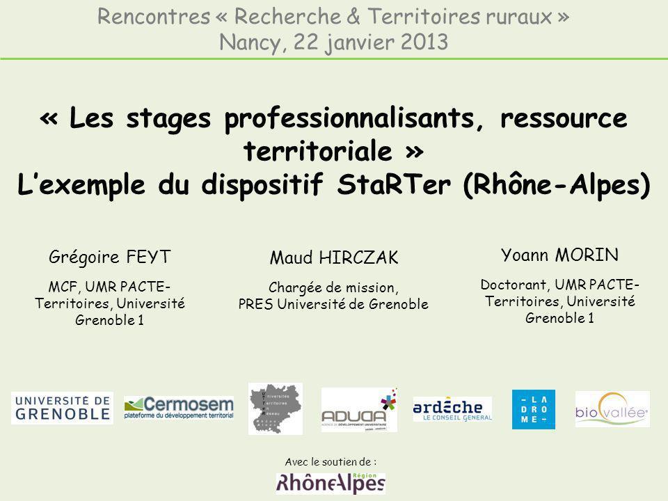 Rencontres « Recherche & Territoires ruraux »