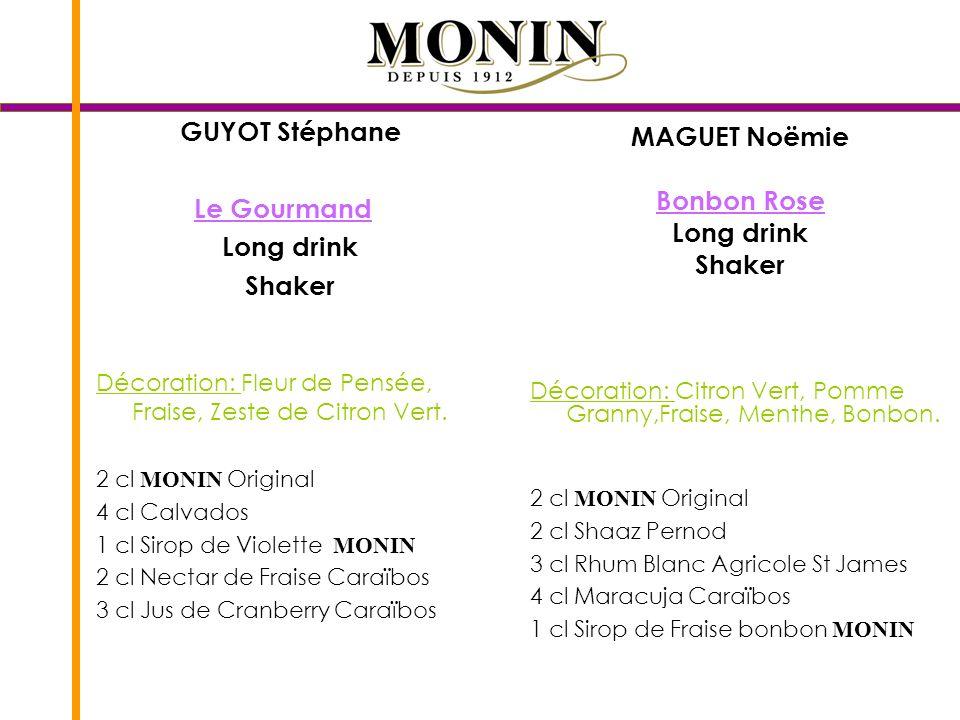 GUYOT Stéphane MAGUET Noëmie Le Gourmand Bonbon Rose Long drink