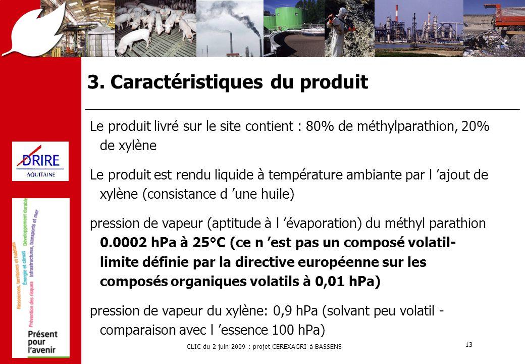 3. Caractéristiques du produit