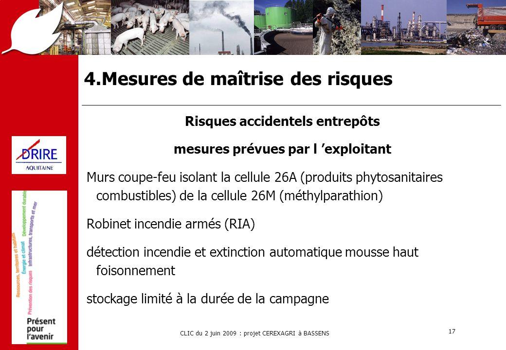 4.Mesures de maîtrise des risques