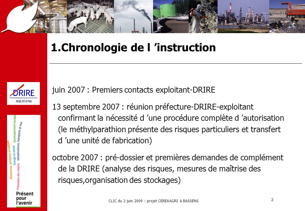 1.Chronologie de l 'instruction