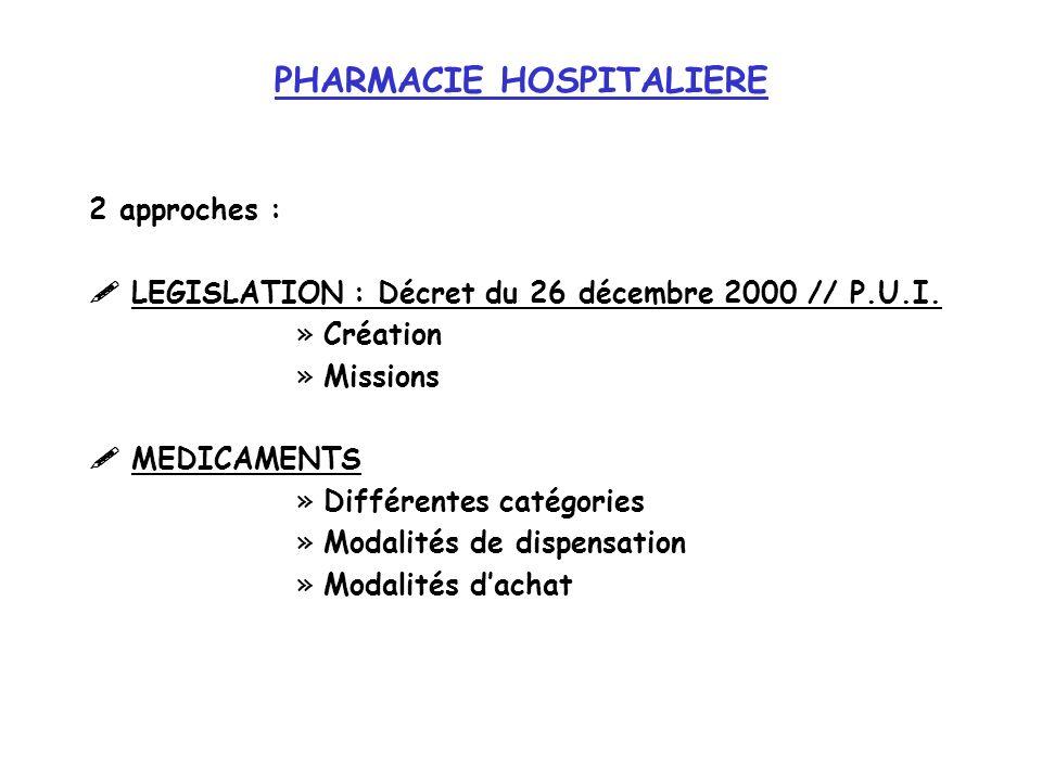 PHARMACIE HOSPITALIERE