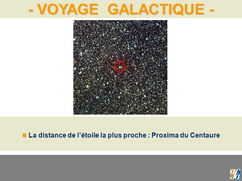 La distance de l'étoile la plus proche : Proxima du Centaure