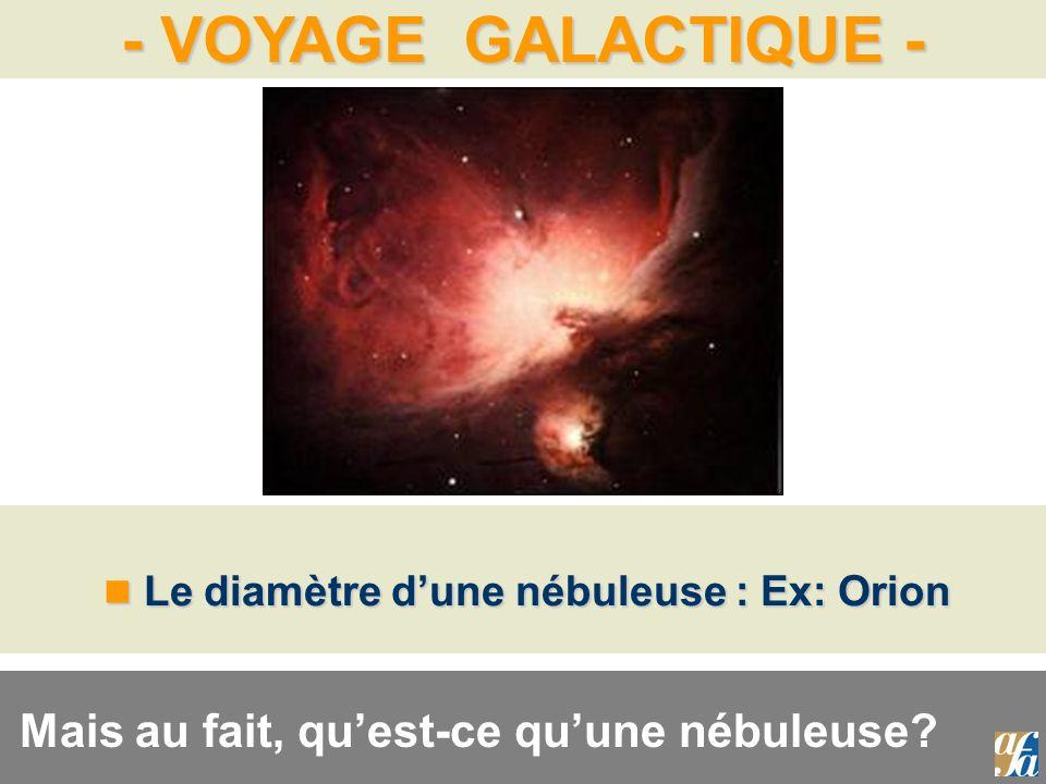 Le diamètre d'une nébuleuse : Ex: Orion