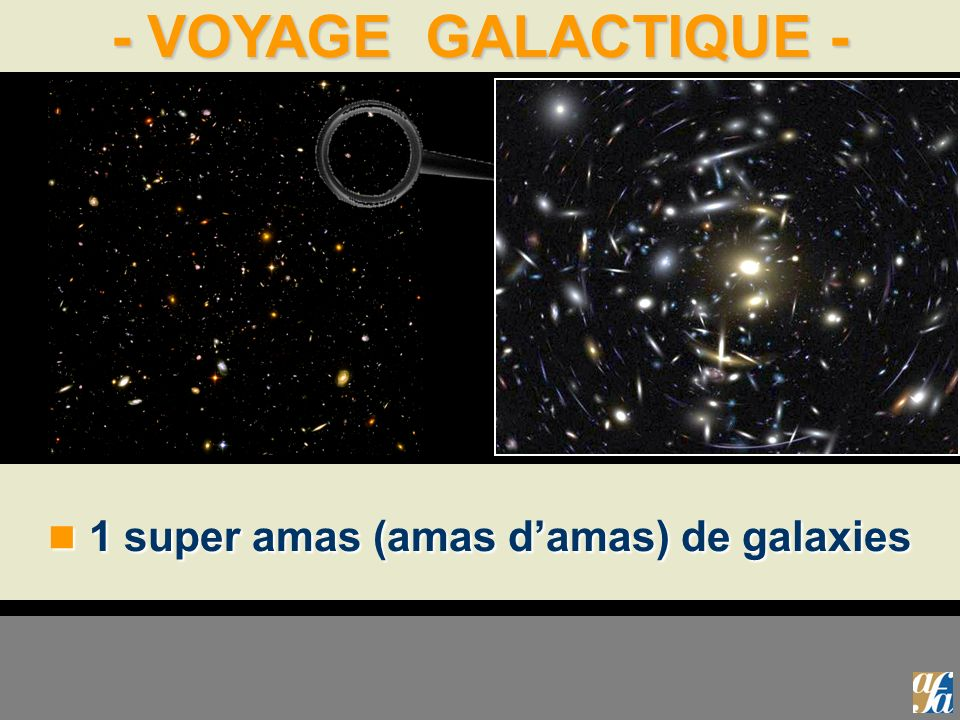1 super amas (amas d'amas) de galaxies