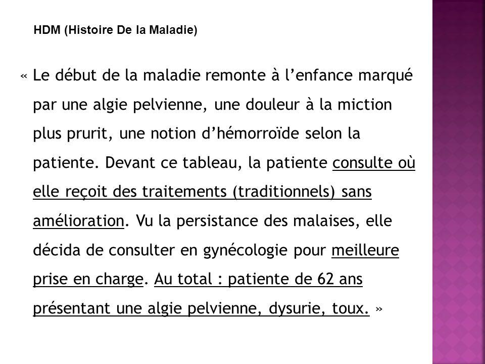 HDM HDM (Histoire De la Maladie)