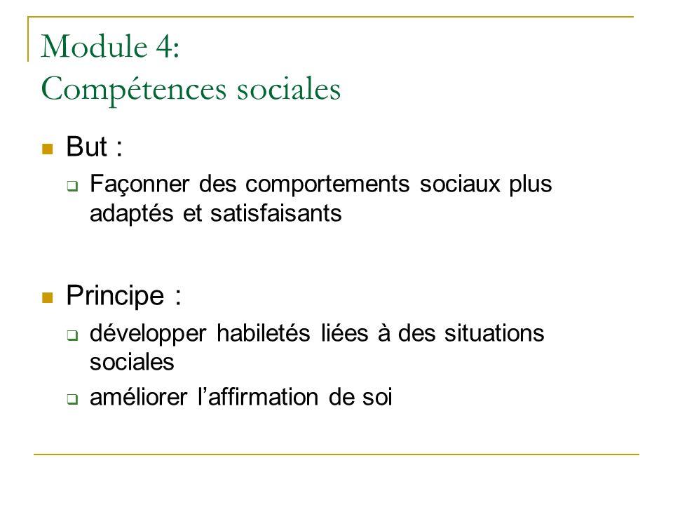 Module 4: Compétences sociales