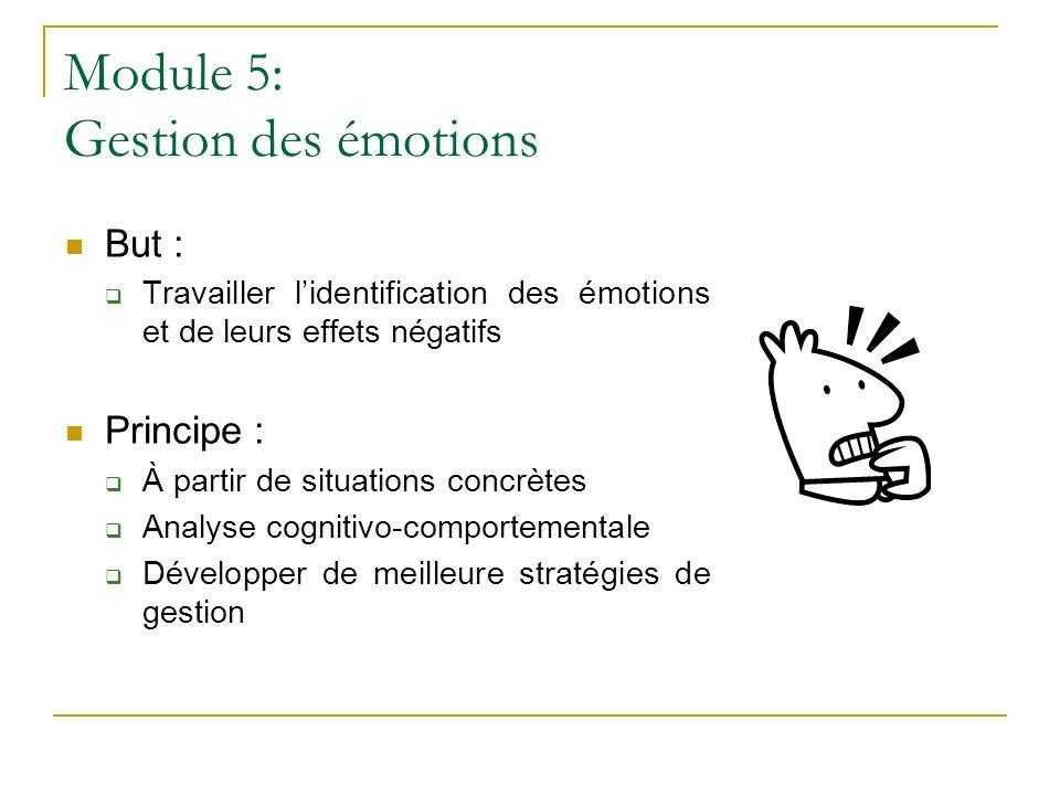 Module 5: Gestion des émotions