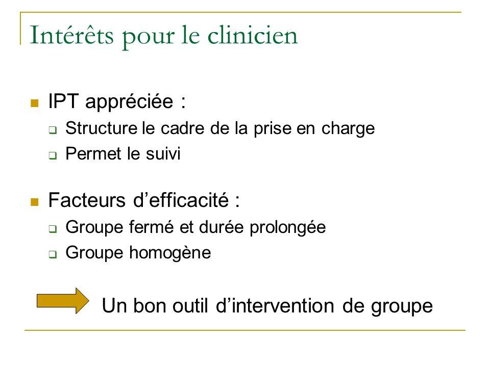Intérêts pour le clinicien