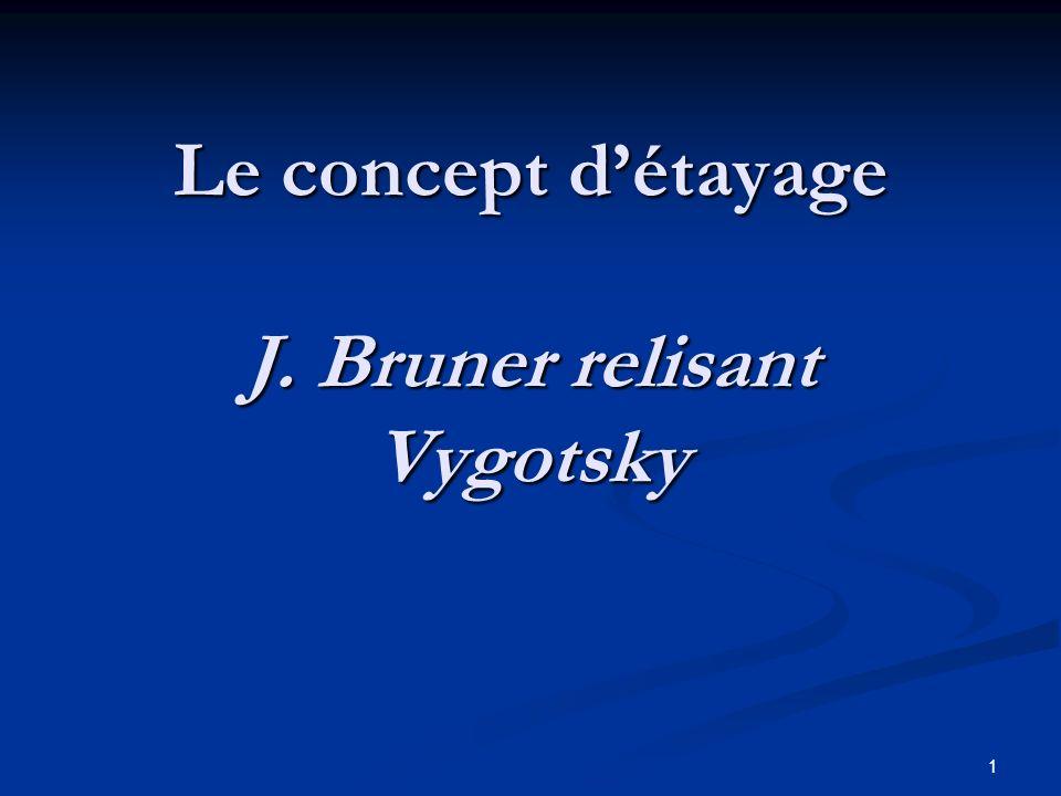 Le concept d'étayage J. Bruner relisant Vygotsky