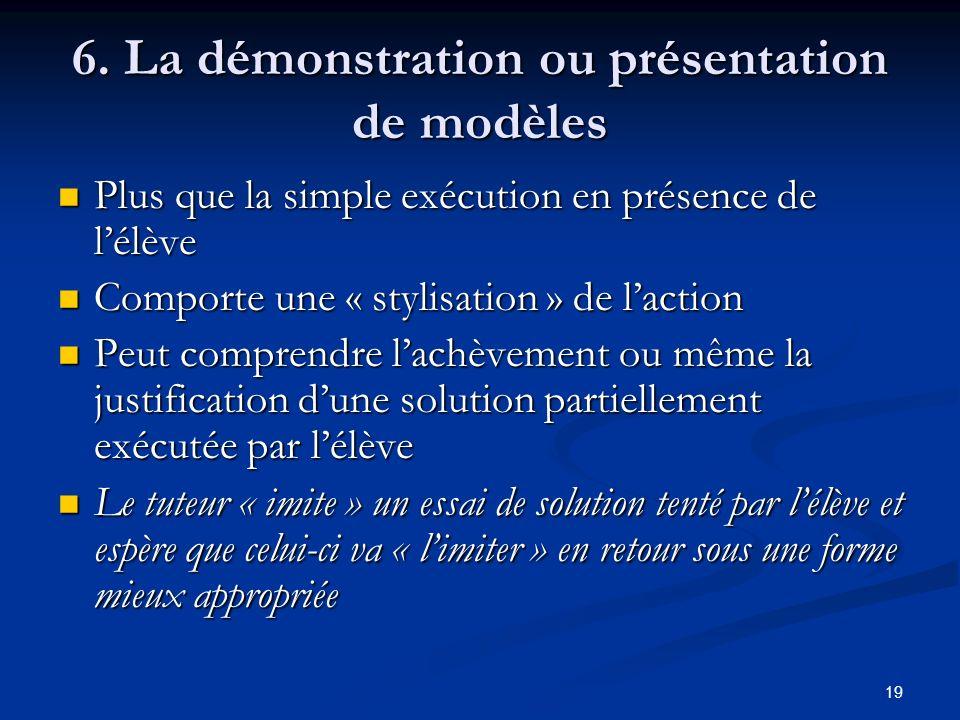 6. La démonstration ou présentation de modèles