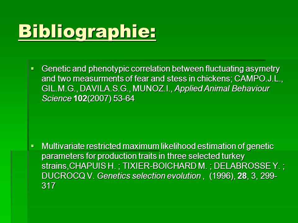 Bibliographie: