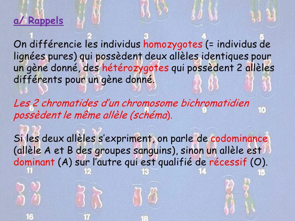 a/ Rappels