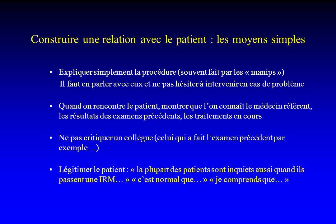 Construire une relation avec le patient : les moyens simples