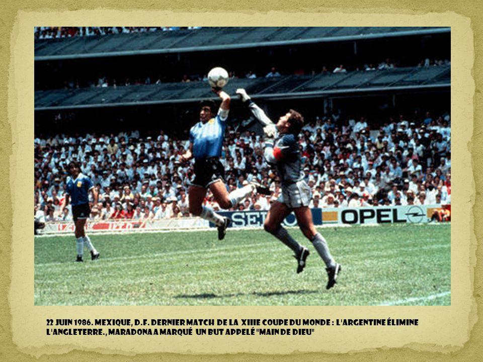 22 juin 1986. Mexique, D.F.