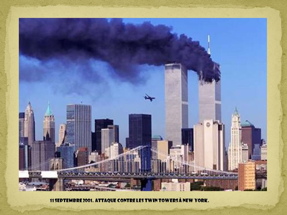 11 septembre 2001. Attaque contre les Twin Towers à New York.