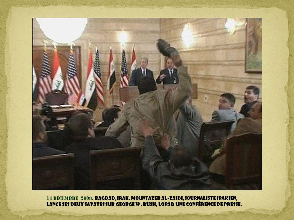 14 décembre 2008. Bagdad, Irak.