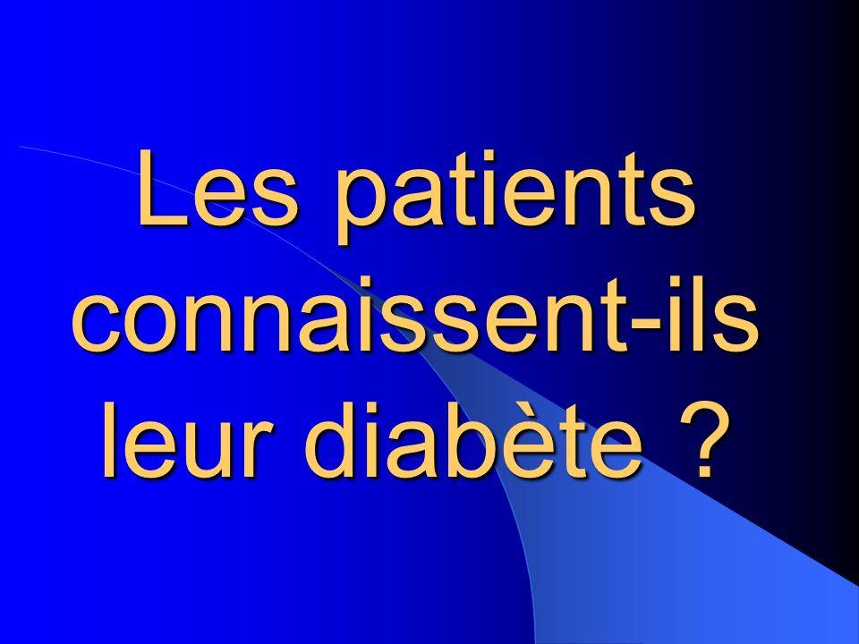 Les patients connaissent-ils leur diabète