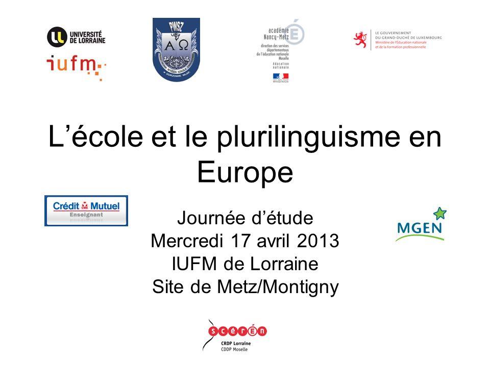 L'école et le plurilinguisme en Europe