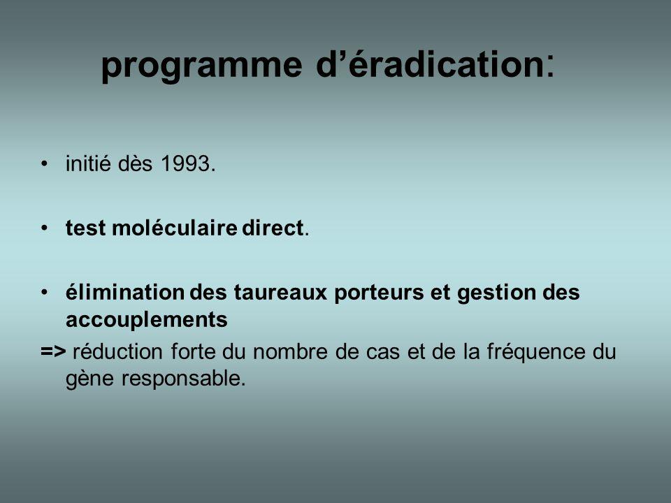 programme d'éradication: