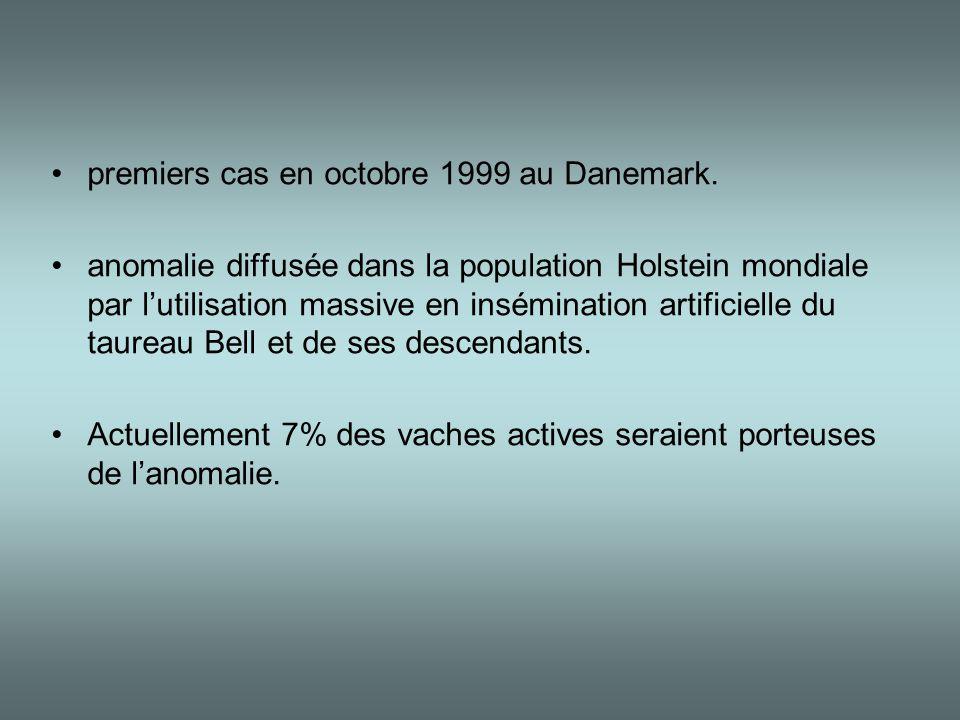 premiers cas en octobre 1999 au Danemark.