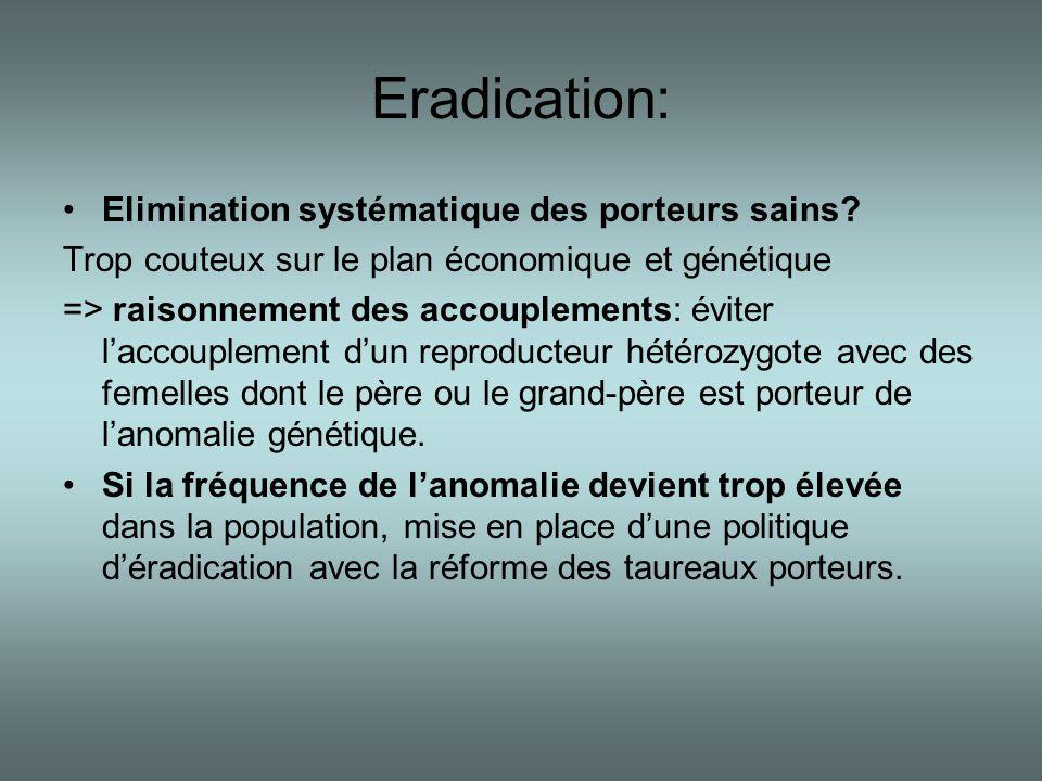 Eradication: Elimination systématique des porteurs sains