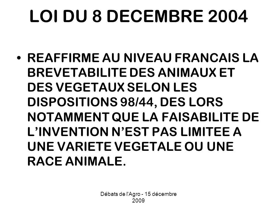 Débats de l Agro - 15 décembre 2009