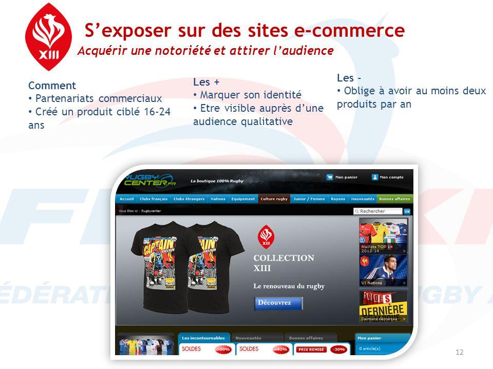 S'exposer sur des sites e-commerce