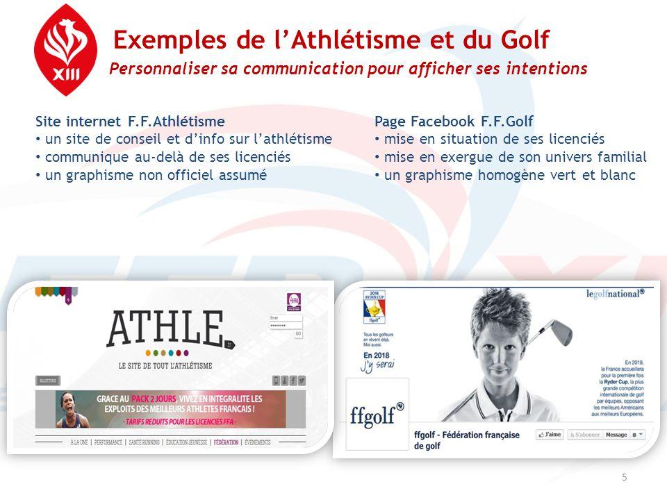 Exemples de l'Athlétisme et du Golf