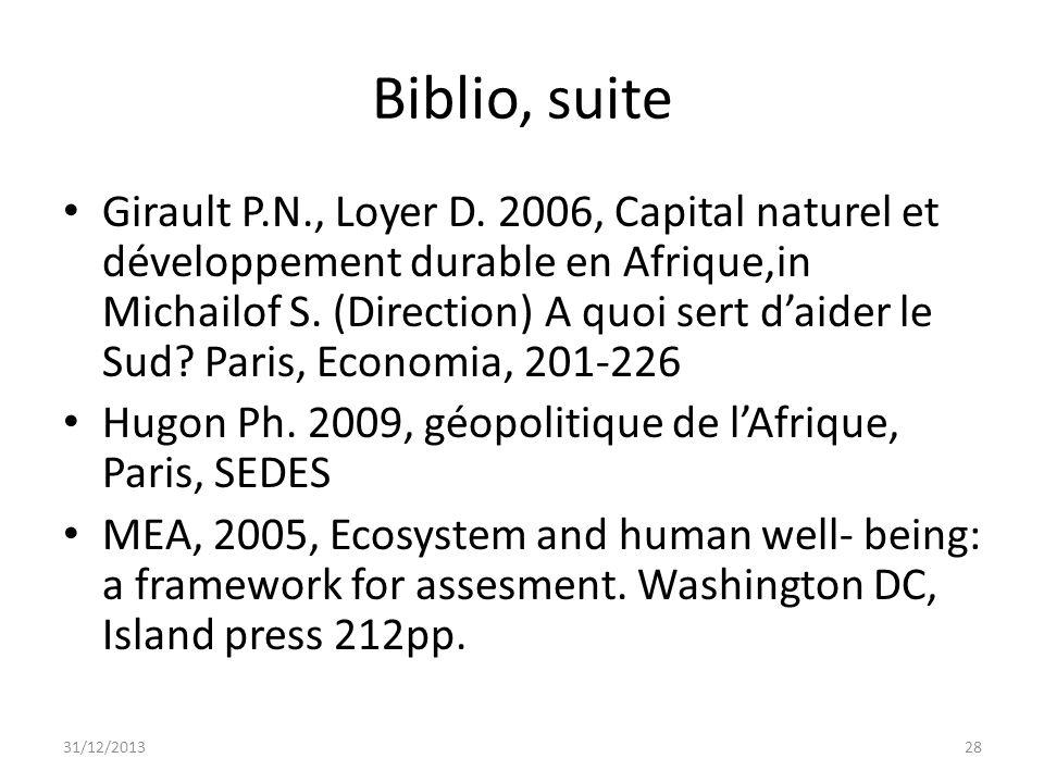 Biblio, suite