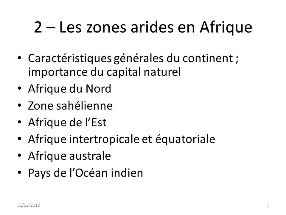 2 – Les zones arides en Afrique