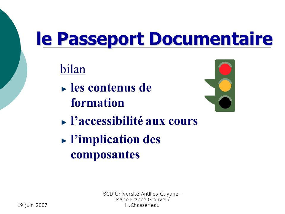 le Passeport Documentaire