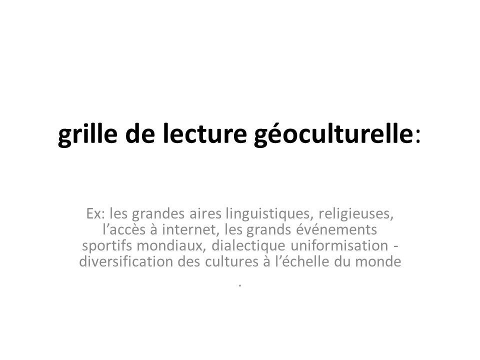 grille de lecture géoculturelle: