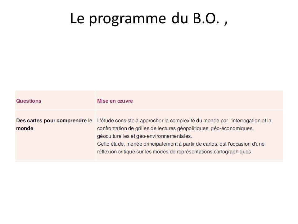 Le programme du B.O. ,