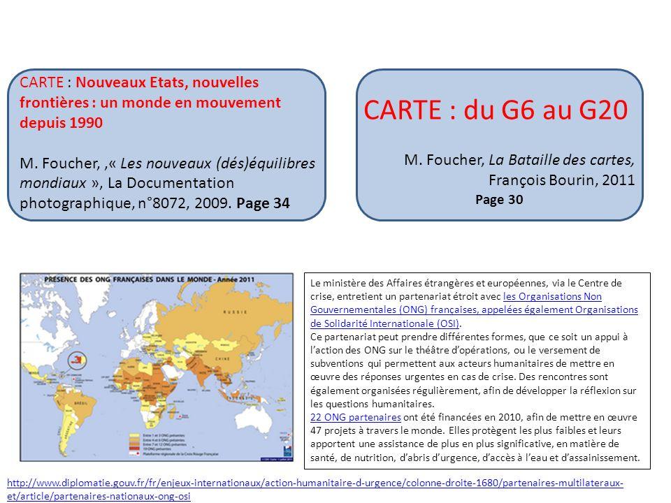 CARTE : Nouveaux Etats, nouvelles frontières : un monde en mouvement depuis 1990