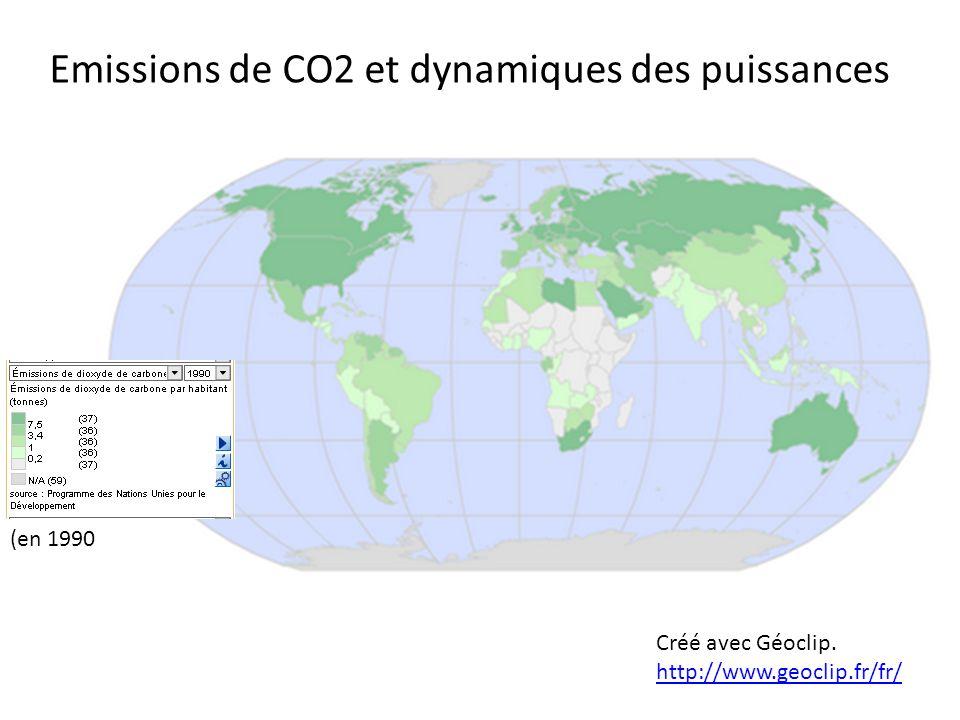 Emissions de CO2 et dynamiques des puissances