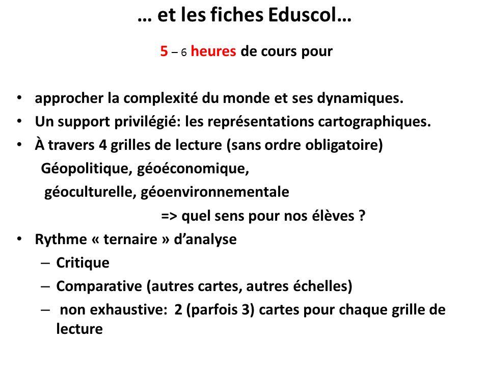 … et les fiches Eduscol…