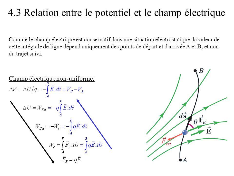 4.3 Relation entre le potentiel et le champ électrique