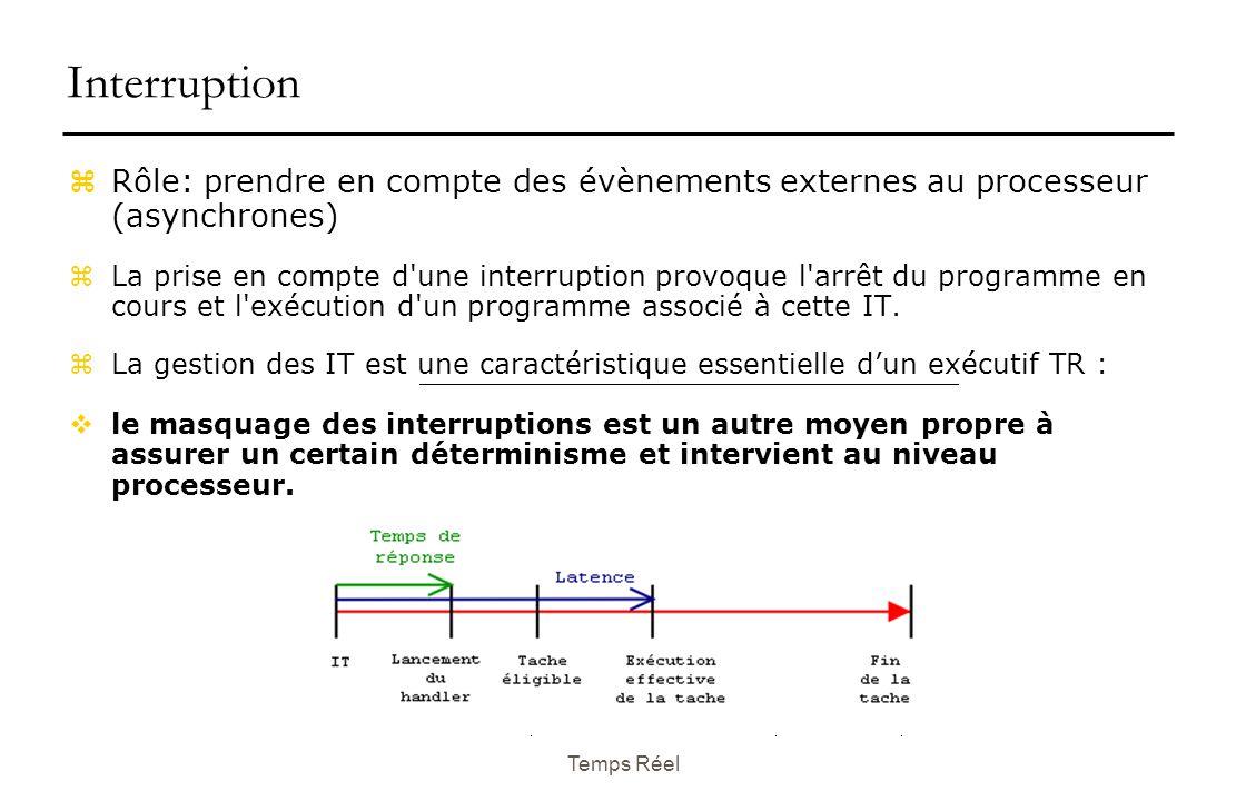 Interruption Rôle: prendre en compte des évènements externes au processeur (asynchrones)