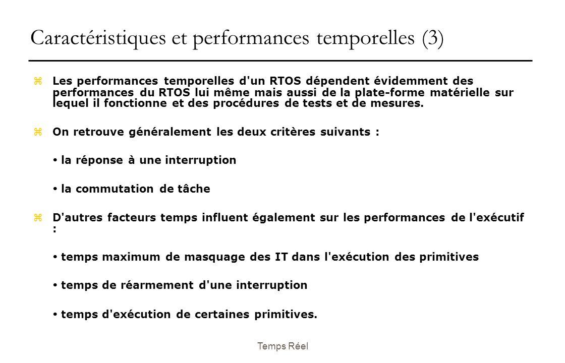 Caractéristiques et performances temporelles (3)