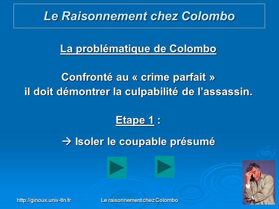 Le Raisonnement chez Colombo