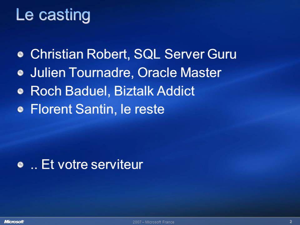 Le casting Christian Robert, SQL Server Guru