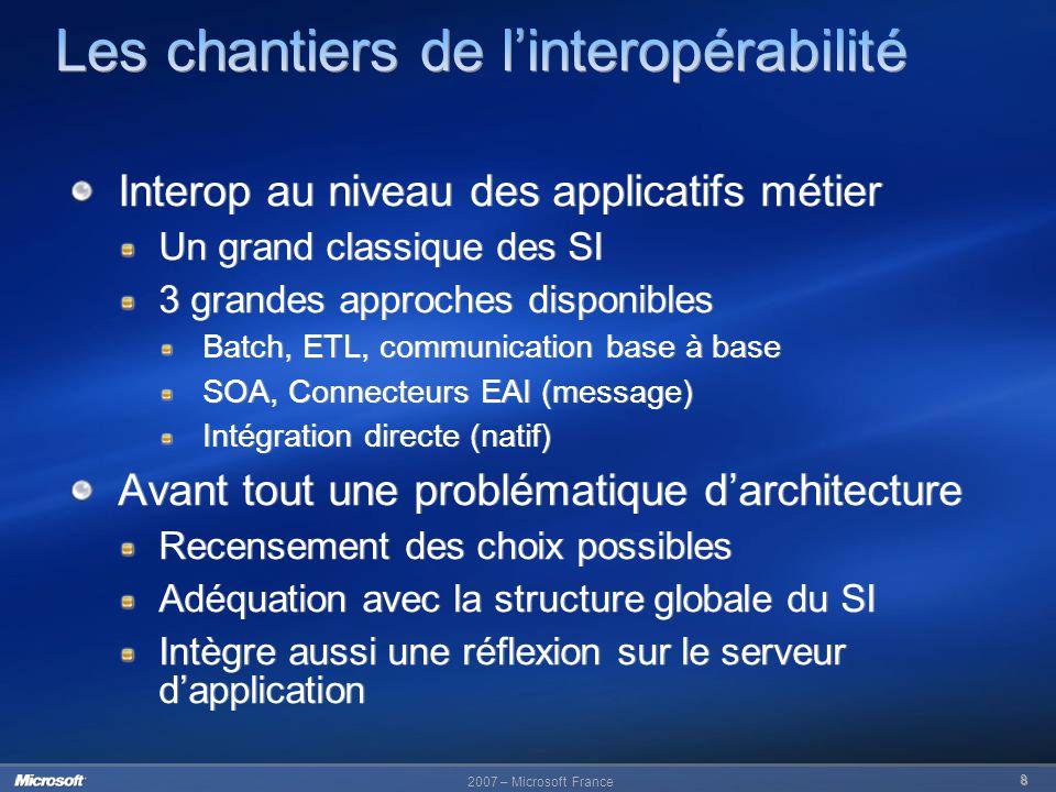 Les chantiers de l'interopérabilité