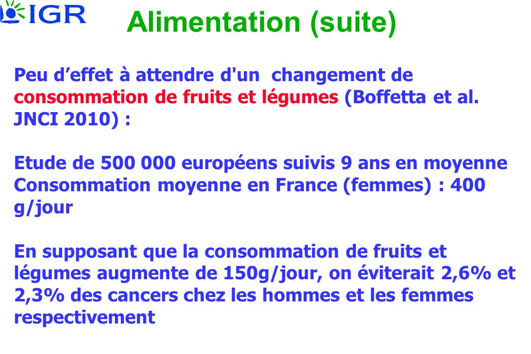 Alimentation (suite)