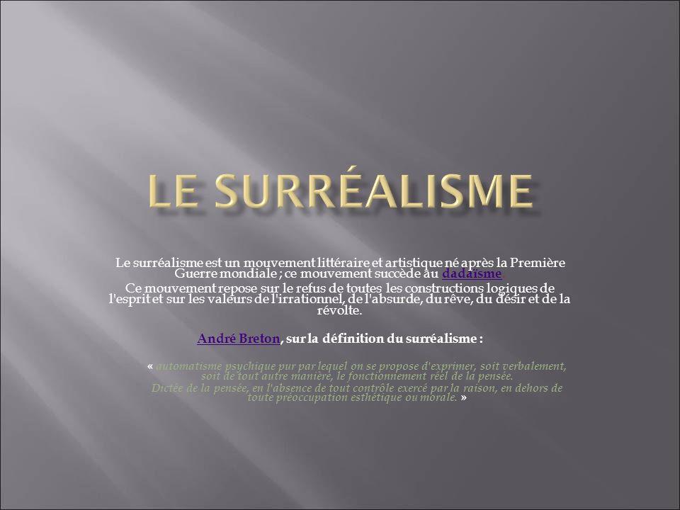 André Breton, sur la définition du surréalisme :