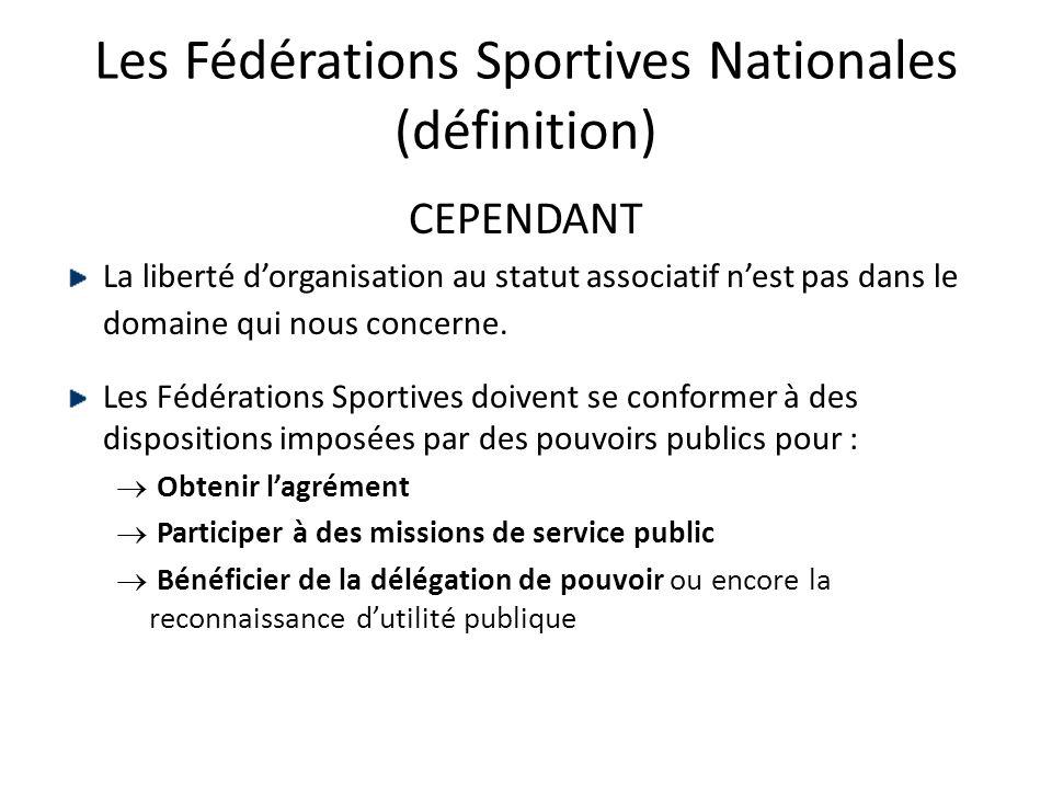Les Fédérations Sportives Nationales (définition)