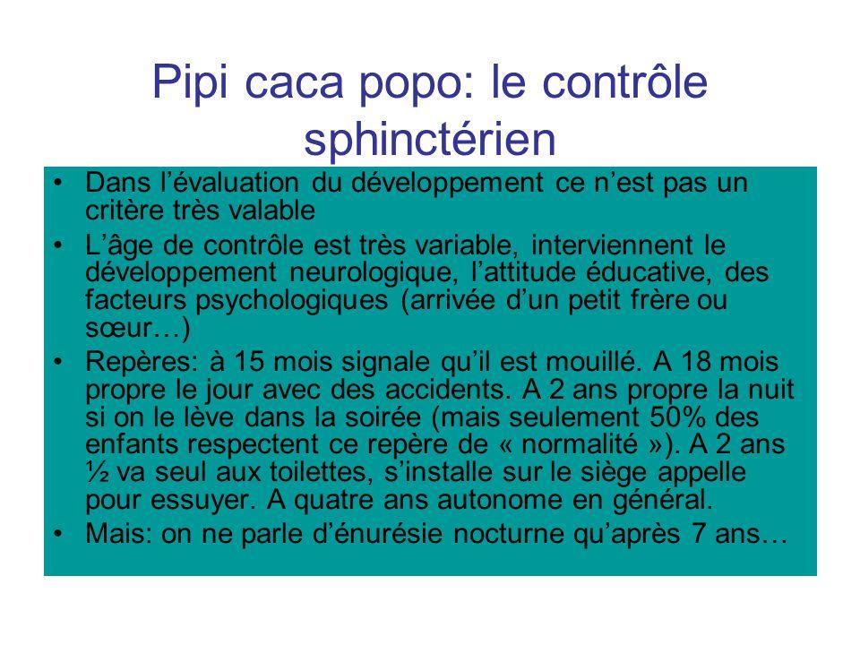 Pipi caca popo: le contrôle sphinctérien