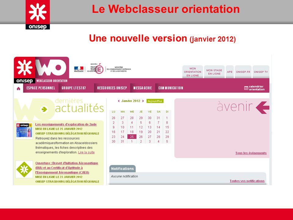 Le Webclasseur orientation