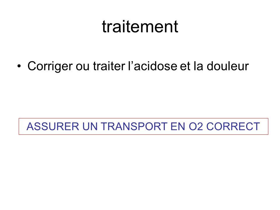 ASSURER UN TRANSPORT EN O2 CORRECT
